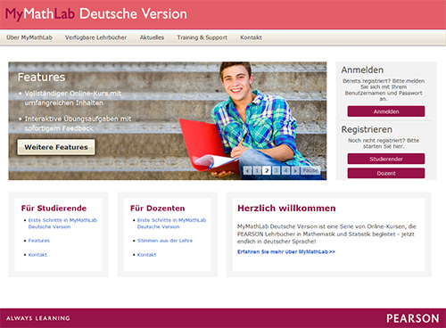 MyMathLab Deutsche Version